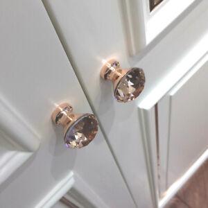 Luxury-Diamond-Crystal-Glass-Drawer-Cabinet-Knob-Dresser-Closet-Door-Pull-Handle