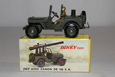 1960's French Dinky #829 Jeep with Mounted Cannon, Nice with Original Box, Lot 4