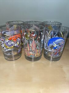 Set of 6 Walt Disney World- Remember and Share the Magic McDonalds glasses