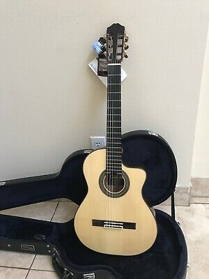 Acoustic Electric Guitars Musical Instruments & Gear Cordoba 55fce Negra Acoustic Electric Flamenco Guitar W/humicase Never Used