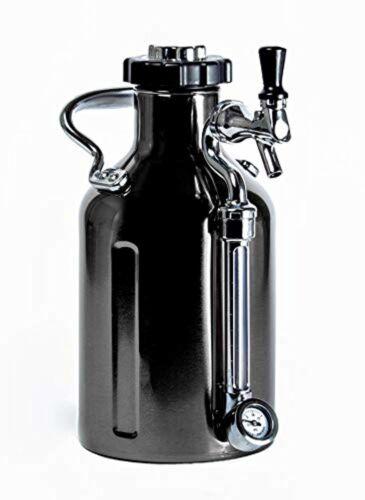 Black Chrome 64oz Pressurized uKeg Growler for Craft Beer