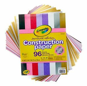 Crayola-Construction-Paper-Colored-amp-Metallic-Sheets-9-034-x12-034-96Count