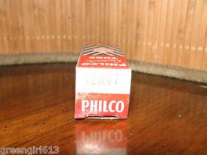 Vintage-Philco-12AV7-Copperposts-D-Getter-Stereo-Tube-0251-745-61