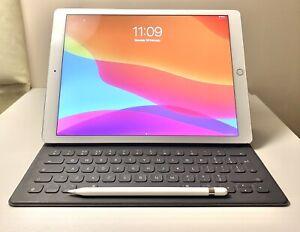 Apple-iPad-Pro-12-9in-128GB-WiFi-Silver-RRP-999-00-Pencil-Keyboard