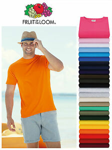 5-Pack-Fruit-Of-The-Loom-100-Cotton-Valueweight-T-Shirt-Plain-Blank-Tee-Top-New