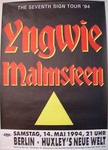 YNGWIE MALMSTEEN CONCERT TOUR POSTER 1994 SEVENTH SIGN | eBay