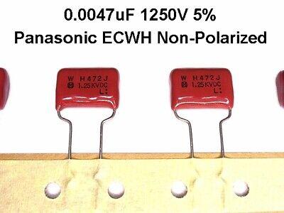 US Stock 10pcs CBB Metallized Film Capacitor 0.0047uf 4.7nf 4700pf 472J 1250V
