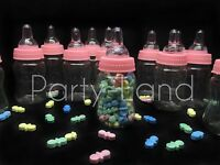 24 Fillable Bottles For Baby Shower Favors Pink Party Decorations Girl