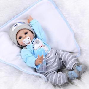 "AU! Reborn Toddler Reborn Dolls Handmade Lifelike Silicone Vinyl Baby Boy 22"""