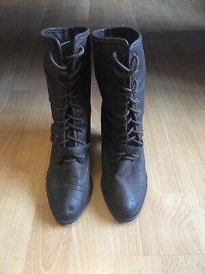 George Asda Brown Ankle Boots Size UK