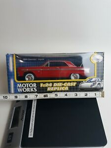 1964-Chevrolet-Impala-Hard-Top-1-24-Diecast-Model-Car-Red-New-Box-Issues