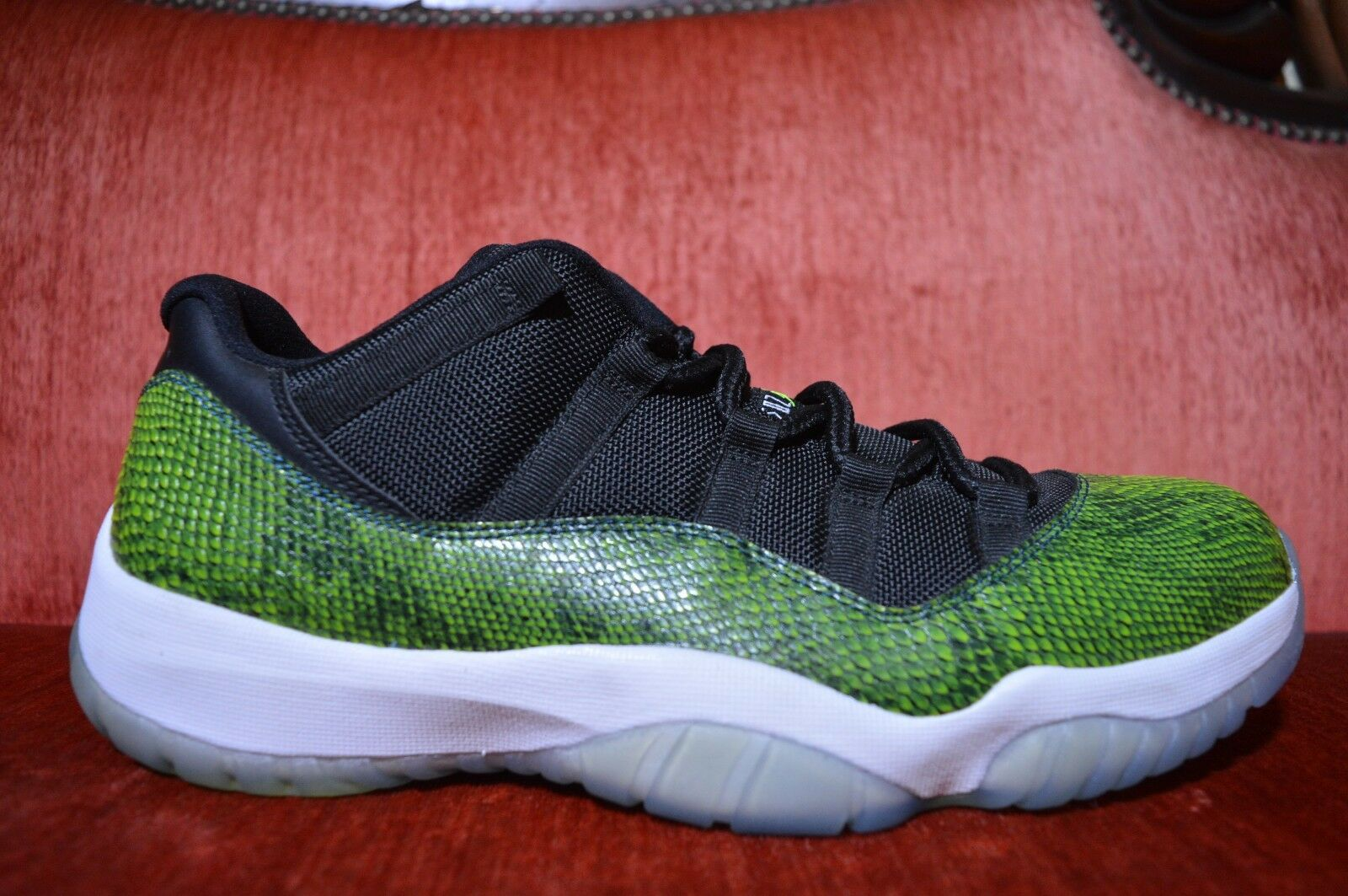 5776c51c021 NEW Nike Air Jordan 11 Retro Low Green Snake Skin 528895 033 Nightshade XI  ntxbev1857-Athletic Shoes