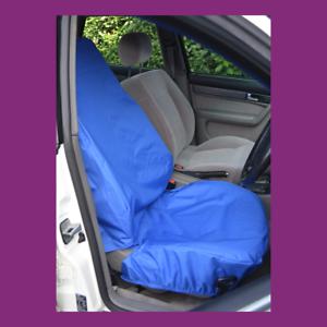 Front Single Car Van Royal Blue Waterproof LARGE Universal Airbag Seat Covers