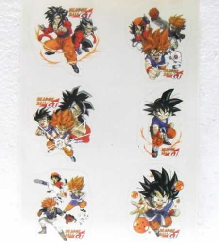 5,5 x 5 misura foglio cm Dragon Ball striscia di 6 STICKERS//ADESIVI cm 20 x 13