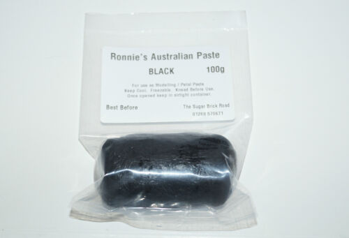Figurine Décoration Gâteau 100 g Noir pâte à modeler pâte de sucre