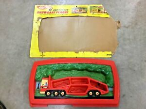 RARE-Hot-Wheels-vintage-1968-Car-Carrier-Showcase-Plaque-as-is-FREE-shipping
