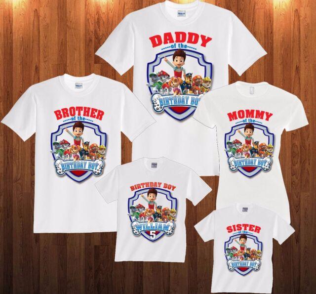 03b6d67102752 Paw Patrol Birthday Shirt Personalized Custom T Shirt Family and kids shirts