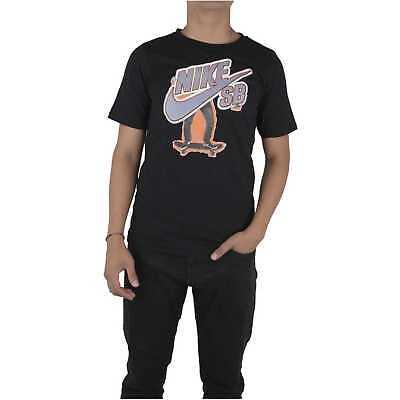 Nike SB Boys Kids T Shirt Top Tee Black Skateboarding Uk Sizes 8 15 Y New | eBay