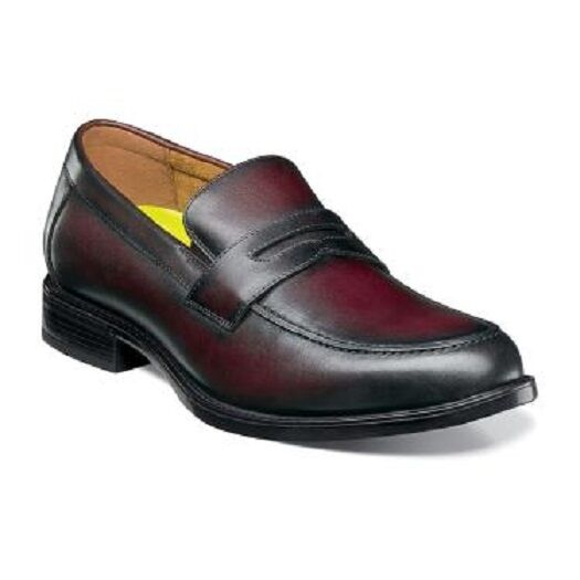 Florsheim Florsheim Florsheim Midtown Penny Loafer Uomo shoes Burgundy  Pelle cushioned 12159-601 24f5a8