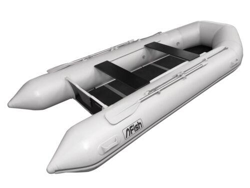 ZARmini Schlauchboot  Typ FISH 380 grau/ grün NEU Taschen.Holzboden Ruder- & Paddelboote Bootsport