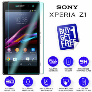 For Sony Xperia Z1 Tempered Glass Screen Protector Film C6903 FRONT AND BACK