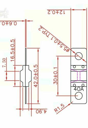 2PCS 100A MIDI ANS FUSES SUIT DUAL BATTERY OR SOLAR 100AMP BOLT DOWN ANS FUSES