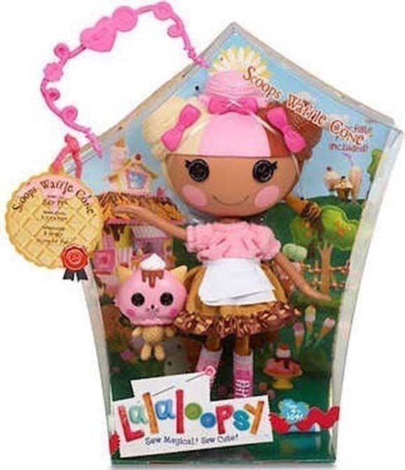 LALALOOPSY SCOOPS WAFFLE CONE LARGE DOLL MIB