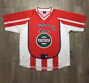 77aea5bb8 Image is loading Vintage-Atletica-Club-Deportivo-De-Guadalajara-Chivas- Jersey-