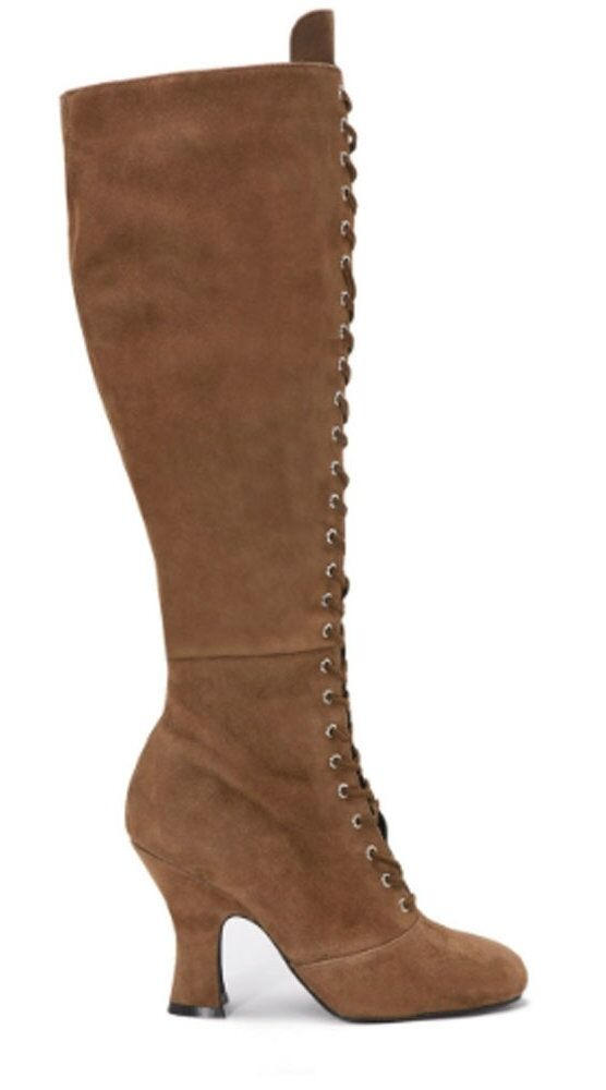 Jeffrey Campbell- Wyder-Women's Lace Up Boot- Tan-Size 10