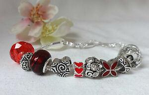 Bracelet-Angel-Red-Silver-Beads-Diamante-Guardian-Angel-Heart-Charm-Bracelet-Bead