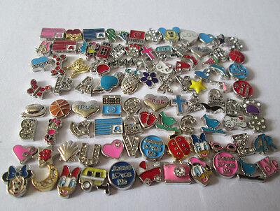 Hot sell!50PCS mixed random floating charm for glass living memory locket K251-1