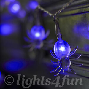 20-UV-Purple-LED-Battery-Operated-Halloween-Spooky-Spider-Fairy-Lights