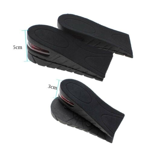 Men Women Increase Height Shoe Insoles Air Cushion 2 Layer 5cm Lift Up Shoes Pad