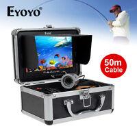 Eyoyo 50m/165ft Hd 1000tvl Fish Finder Underwater Camera 7 Lcd+lights Control