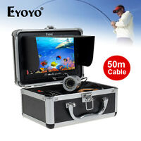 Eyoyo 50m/165ft Hd 1000tvl Fish Finder Underwater Camera 7 Lcd+lights Control