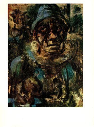 """1977 Vintage ROUAULT /""""HEAD OF A TRAGIC CLOWN/"""" COLOR offset Lithograph"""