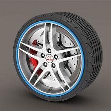 Blue Rimblades Alloy Wheel Edge Ring Rim Protectors Tyres Tire Guard Rubber