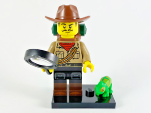 Genuine Minifigures Series 19 Jungle Explorer Minifigure with Chameleon 71025