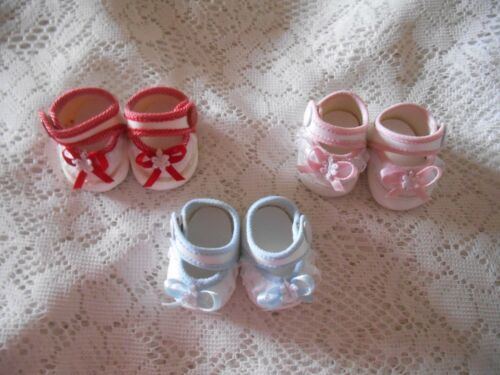 """6cm White-Blue fit American Character Tiny Tears 15/""""16/"""" Doll Shoes 2 1//4/"""""""