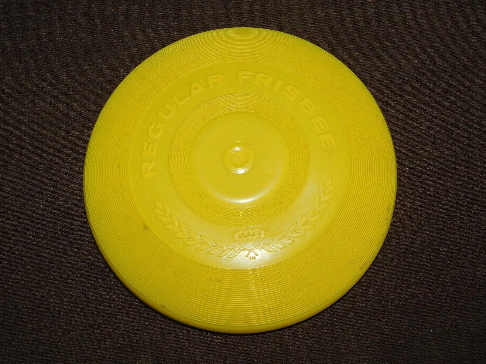 Alten spielzeug - 8 3   4  in 1966 wham-o gelbe regelmäßige frisbee