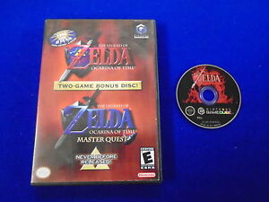 gamecube ZELDA Ocarina Of Time + Master Quest Game (NI