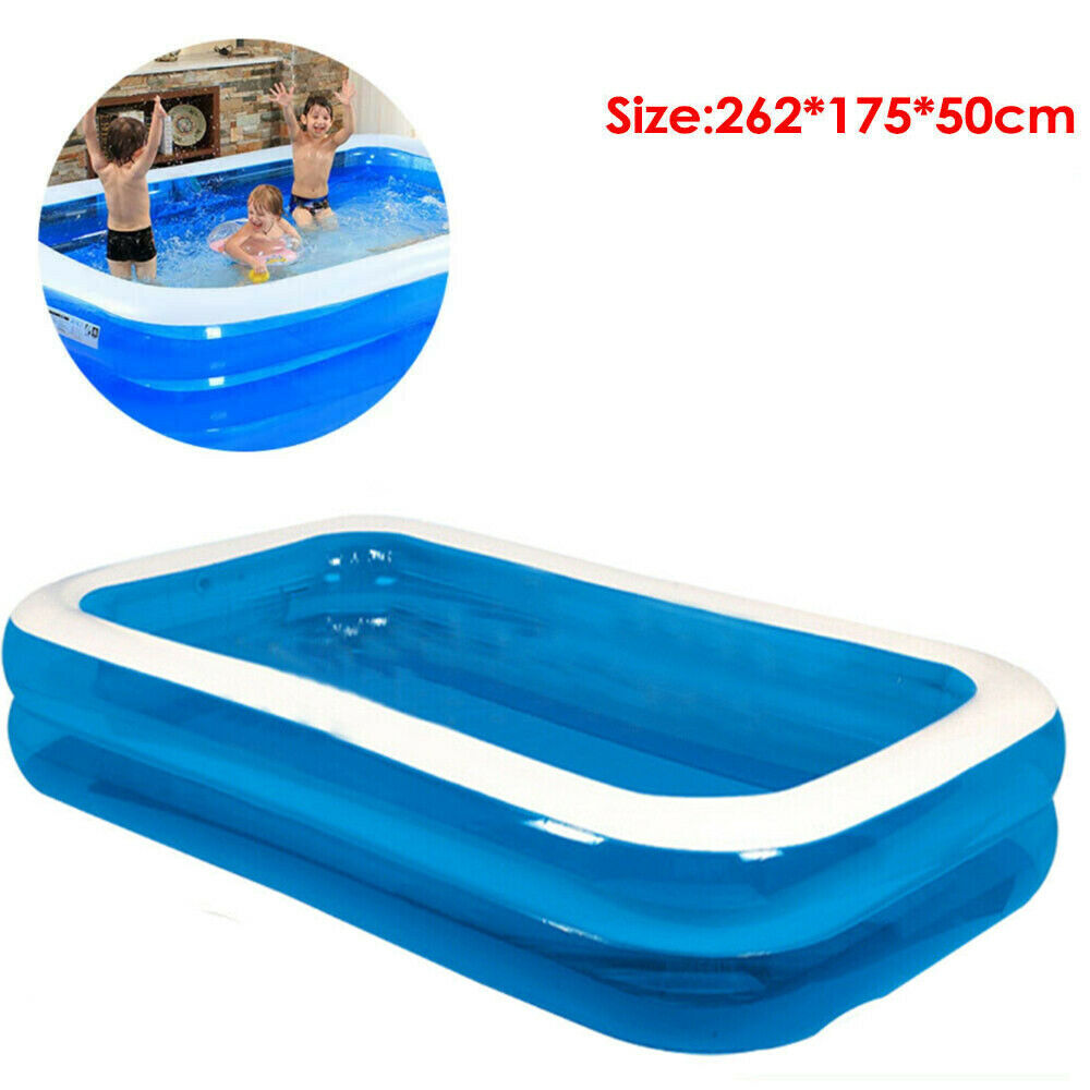 Large Family Swimming Pool Garden Outdoor Summer Inflatable Paddling Pools 2.6M