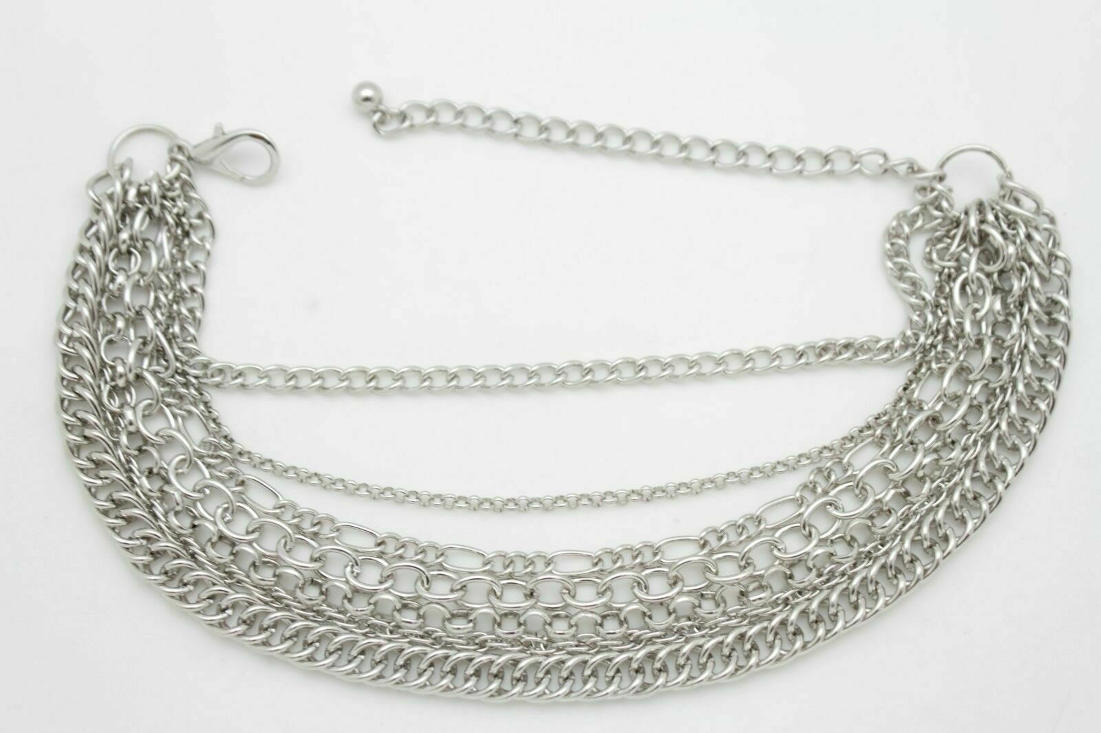 Women Silver Boot Bracelet Anklet Chain Western Bling Shoe Charm Sexy Accessory