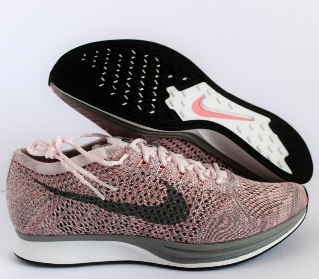watch 64a20 4809d NIKE FLYKNIT RACER PEARL PINK-COOL GREY MENS SZ 13  526628-604