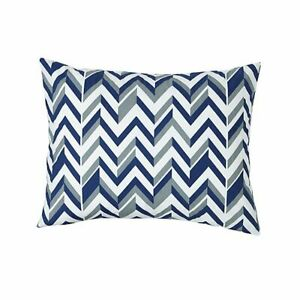 Crate Amp And Barrel Land Of Nod Little Prints Blue Zig Zag