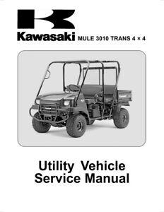 new kawasaki mule 3010 trans 4x4 service manual 2005 kaf620 free rh ebay com kawasaki mule 3010 repair manual download kawasaki mule 4010 owners manual