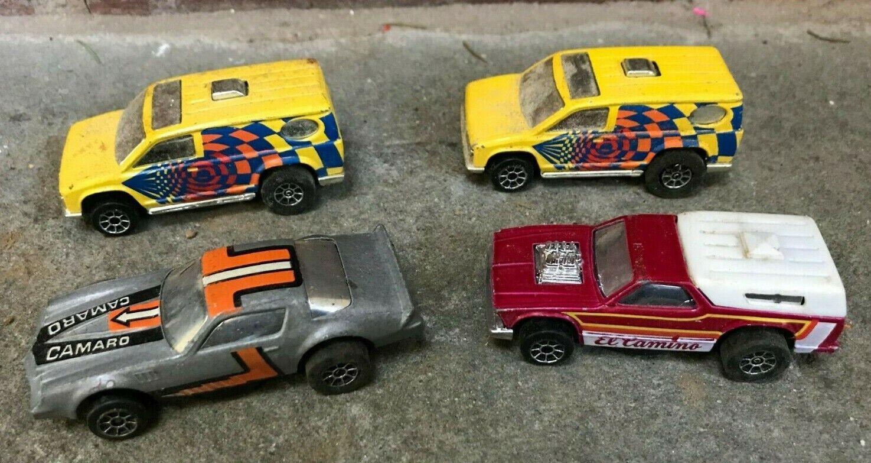 Lot of 4 Vintage Hot Wheels Scorchers Yellow Van El Camino Camaro Nice RARE