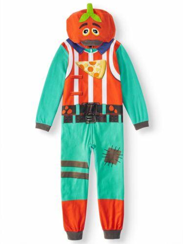 Fortnite Tomato Head Fleece Union Suit Costume Pajamas Size 10//12 or 14//16 NWOT