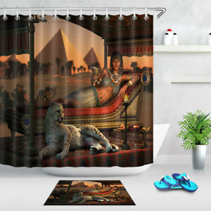 Image Is Loading Waterproof Ancient Egyptian Lady Amp Tame Cheetah Shower