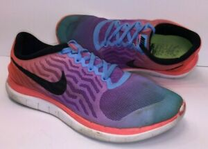 pretty nice e310f 648be Details about NIKE FREE 4.0 FLYKNIT Womens Running Shoes-Hot  Lava/White/Black (Size 8)